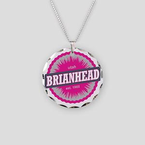 Brian Head Ski Resort Utah P Necklace Circle Charm