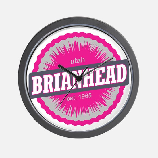 Brian Head Ski Resort Utah Pink Wall Clock