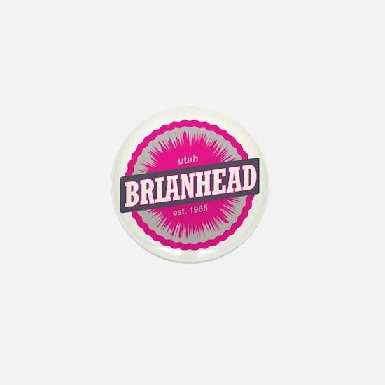 Brian Head Ski Resort Utah Pink Mini Button