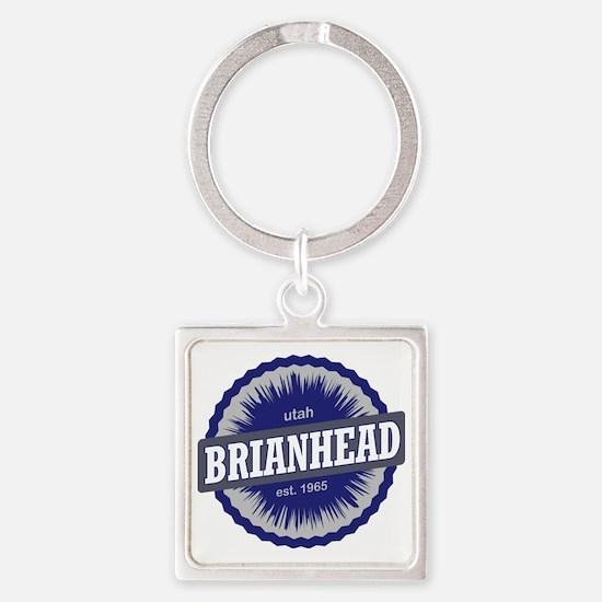 Brian Head Ski Resort Utah Blue Square Keychain