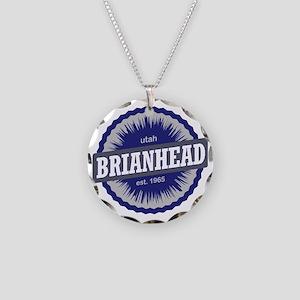 Brian Head Ski Resort Utah B Necklace Circle Charm