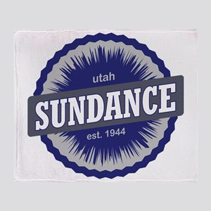 Sundance Ski Resort Utah Blue Throw Blanket