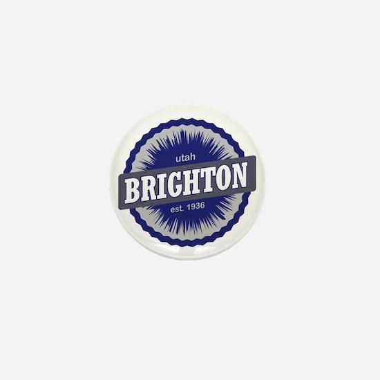 Brighton Ski Resort Utah Blue Mini Button
