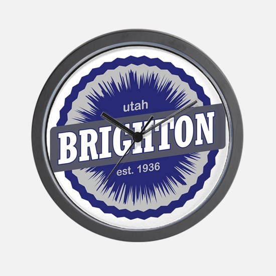 Brighton Ski Resort Utah Blue Wall Clock
