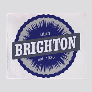 Brighton Ski Resort Utah Blue Throw Blanket