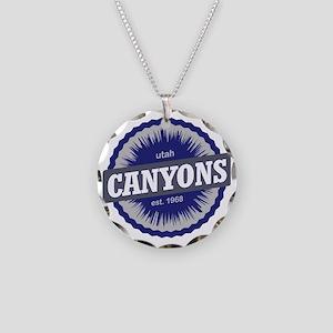 The Canyons Ski Resort Utah  Necklace Circle Charm