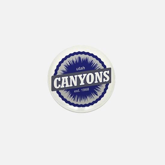 The Canyons Ski Resort Utah Blue Mini Button