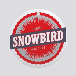 Snowbird Ski Resort Utah Red Round Ornament