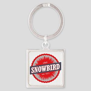Snowbird Ski Resort Utah Red Square Keychain