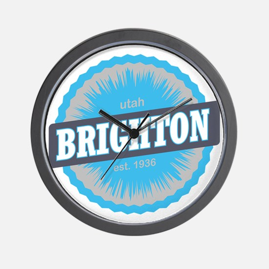 Brighton Ski Resort Utah Sky Blue Wall Clock