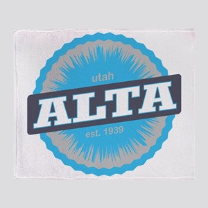 Alta Ski Resort Utah Sky Blue Throw Blanket
