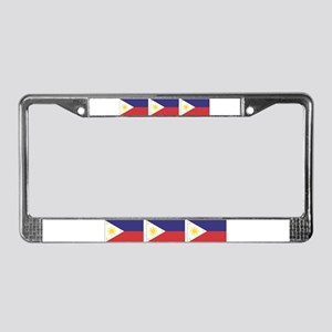 3 Philippine Flags License Plate Frame