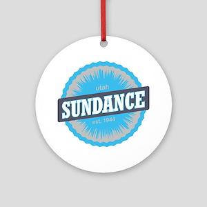 Sundance Ski Resort Utah Sky Blue Round Ornament