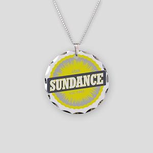 Sundance Ski Resort Utah Yel Necklace Circle Charm