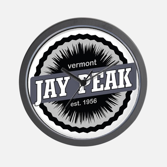 Jay Peak Ski Resort Vermont Black Wall Clock