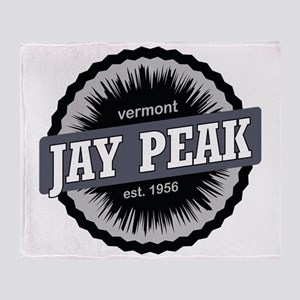 Jay Peak Ski Resort Vermont Black Throw Blanket