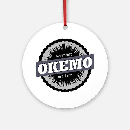 Okemo Mountain Ski Resort Vermont B Round Ornament
