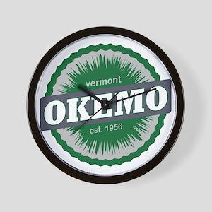 Okemo Mountain Ski Resort Vermont Dark  Wall Clock