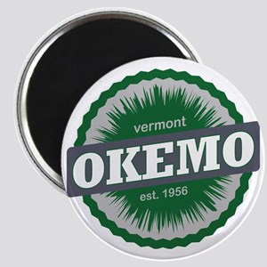 Okemo Mountain Ski Resort Vermont Dark Gree Magnet