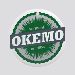 Okemo Mountain Ski Resort Vermont D Round Ornament