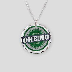 Okemo Mountain Ski Resort Ve Necklace Circle Charm