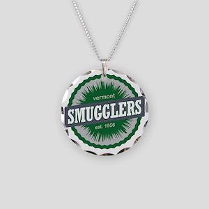 Smugglers Notch Ski Resort V Necklace Circle Charm