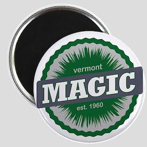 Magic Mountain Ski Resort Vermont Dark Gree Magnet