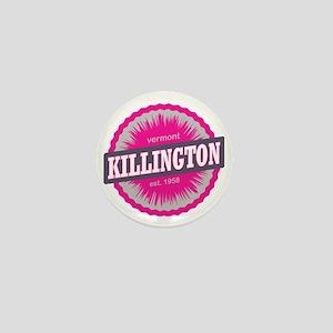 Killington Ski Resort Vermont Pink Mini Button