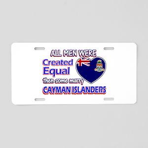 cayman islanders Wife Designs Aluminum License Pla