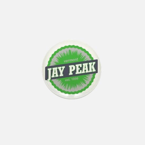 Jay Peak Ski Resort Vermont Lime Green Mini Button