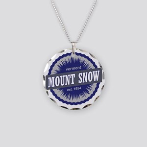 Mount Snow Ski Resort Vermon Necklace Circle Charm