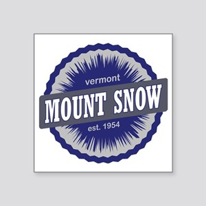 "Mount Snow Ski Resort Vermo Square Sticker 3"" x 3"""