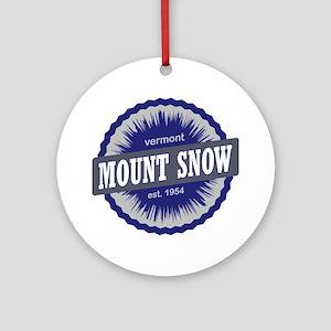 Mount Snow Ski Resort Vermont Navy  Round Ornament
