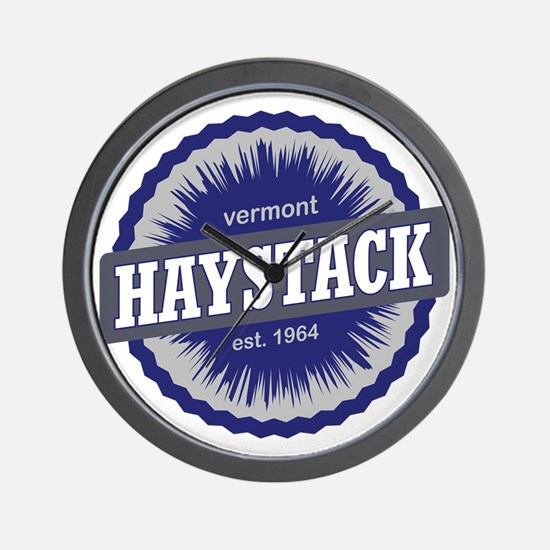 Haystack Ski Resort Vermont Navy Blue Wall Clock