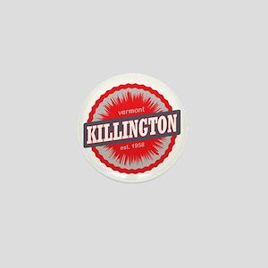 Killington Ski Resort Vermont Red Mini Button
