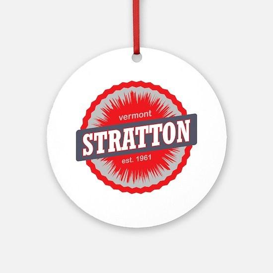 Stratton Mountain Ski Resort Vermon Round Ornament