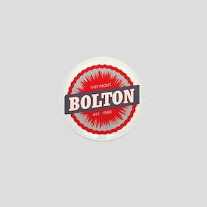 Bolton Valley Ski Resort Vermont Red Mini Button