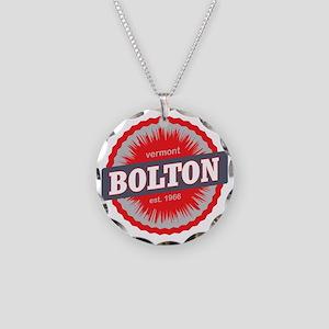 Bolton Valley Ski Resort Ver Necklace Circle Charm
