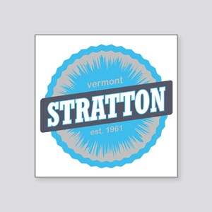 "Stratton Mountain Ski Resor Square Sticker 3"" x 3"""