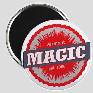 Magic Mountain Ski Resort Vermont Red Magnet