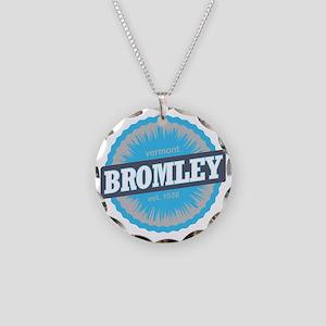 Bromley Mountain Ski Resort  Necklace Circle Charm