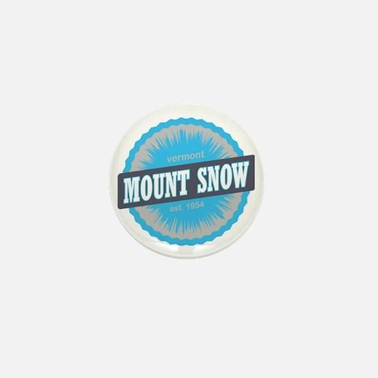 Mount Snow Ski Resort Vermont Sky Blue Mini Button