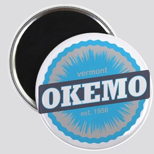 Okemo Mountain Ski Resort Vermont Sky Blue Magnet