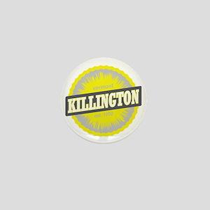 Killington Ski Resort Vermont Yellow Mini Button