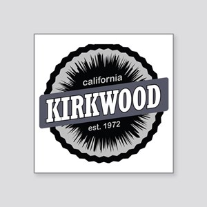 "Kirkwood Mountain Resort Sk Square Sticker 3"" x 3"""