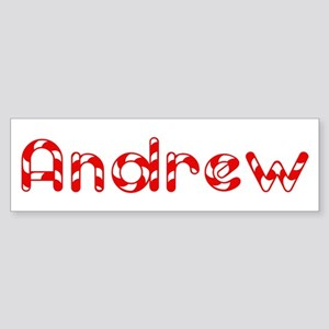 Andrew - Candy Cane Bumper Sticker