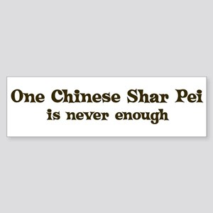 One Chinese Shar Pei Bumper Sticker
