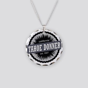 Tahoe Donner Downhill Ski Re Necklace Circle Charm