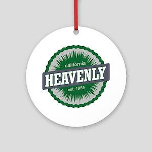 Heavenly Mountain Resort Ski Resort Round Ornament