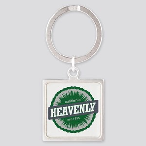 Heavenly Mountain Resort Ski Resor Square Keychain